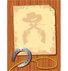 cowboy elements scroll vector image vector image