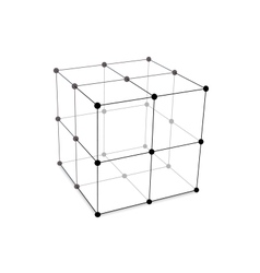 Cube Made is Mesh Polygonal Element vector image vector image