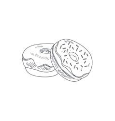 Donuts hand drawn sketch vector