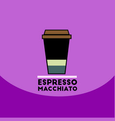 flat icon design collection espresso vector image vector image