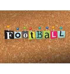 Football concept vector