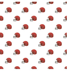 Football helmet with face mask pattern vector