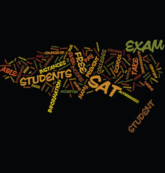 Free sat exam text background word cloud concept vector