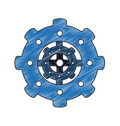 Gear machinery piece vector