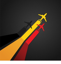 Germany plane vector image