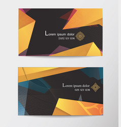 Gift voucher two cards pattern thai business card vector