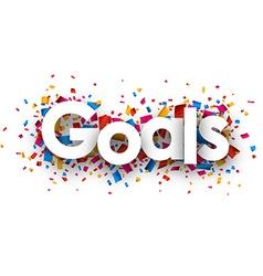 Goals sign vector