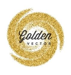 Gold Glitter Sparkles Bright Confetti white vector image vector image