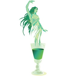 Green fairy vector