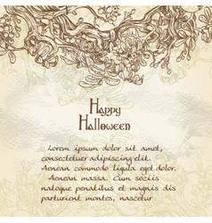 Halloween decorative vintage background vector image vector image