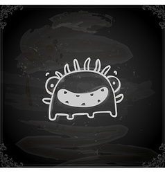 Hand drawn happy monster vector