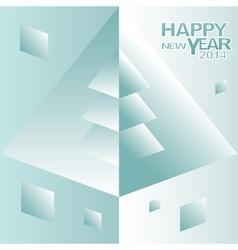 Happy new year christmas tree design vector
