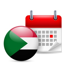 Icon of national day in sudan vector