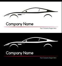 Modern executive sports silhouette concept car vector