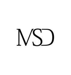 msd letter logo vector image vector image