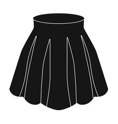 orange women s light summer skirt with pleats vector image