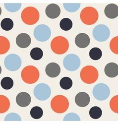 Pattern with polka redbluegrey dots vector image