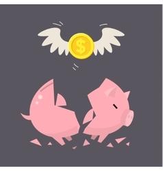 Piggy bank concept vector