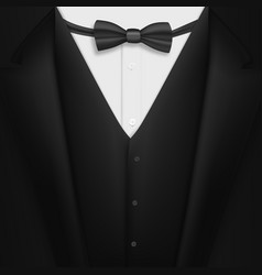 Realistic black suit photorealistic 3d mens vector