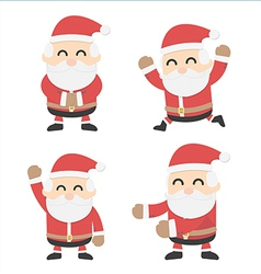 Santa Claus and different poses vector image vector image