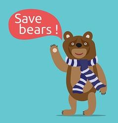 Save bears vector image