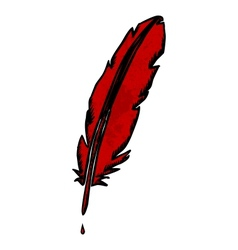 Scribble feather vector image vector image