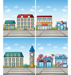 Shops vector image vector image
