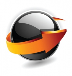 sphere arrow vector image vector image