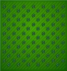 St Patricks Day Green background icon set trefoil vector image vector image