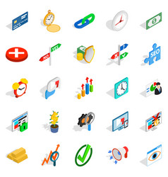 Swap icons set isometric style vector
