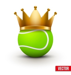 Tennis ball with royal crown vector image vector image