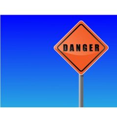 traffic sign danger sky background vector image