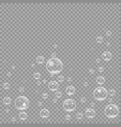underwater fizzing air bubbles isolated on vector image