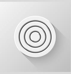 White flat circle badge vector