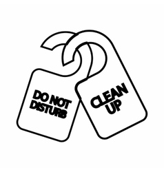 Tag do not disturb and clean up icon vector
