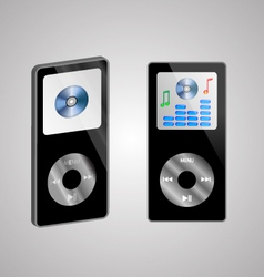 two MP3 players vector image