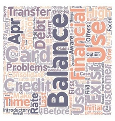 Better balance transfer credit card use text vector