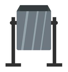 grey metal dust bin icon isolated vector image