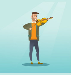 Man playing the violin vector