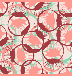 Colorful inked splashes seamless texture fashion vector