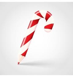 Candy cane pencil abstract christmas concept vector