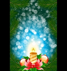 winter Christmas card vector image