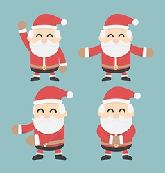 Set of santa claus flat design vector