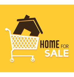 Real estate over yellow background vector