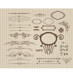 Set of vintage calligraphic elements vector