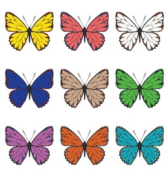 Butterflies set3 vector