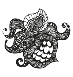 Fantasy pattern in tattoo style vector
