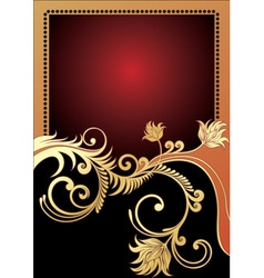 Golden card vector