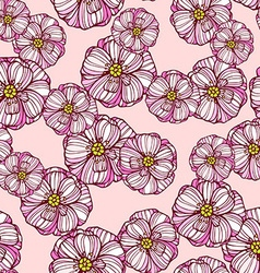 Floral pattern with poppies flowers vector image