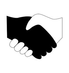 handshake between two people entering vector image